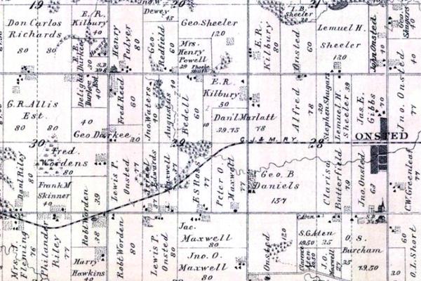 1893 Cambridge Township W RR on WoodensOnline