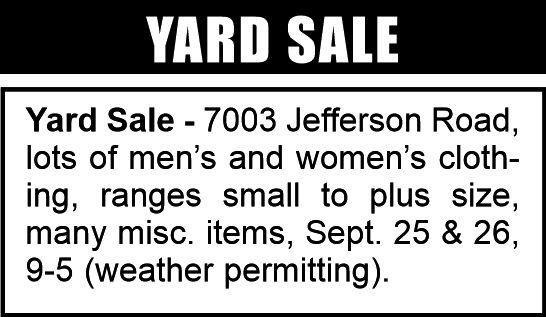 yard sale 3-4