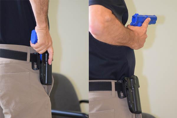 pulling pistol